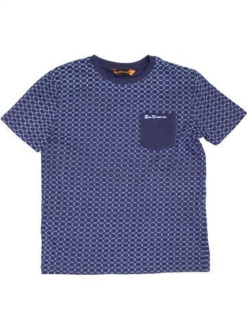 T-shirt manches courtes garçon BEN SHERMAN bleu 11 ans été #1377942_1