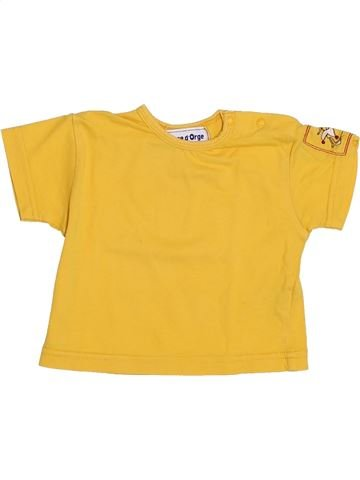 T-shirt manches courtes garçon SUCRE D'ORGE jaune 3 mois été #1379333_1
