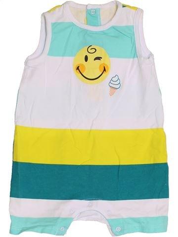 Combinaison courte garçon SMILEY vert 9 mois été #1379436_1