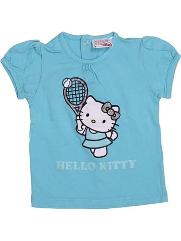 Camiseta de manga corta niña HELLO KITTY azul 12 meses verano #1379835_1