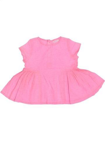 Blusa de manga corta niña BOUT'CHOU rosa 12 meses verano #1380972_1