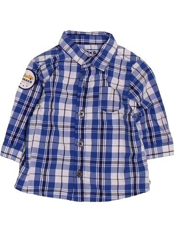 Chemise manches longues garçon CREEKS bleu 3 mois hiver #1381711_1