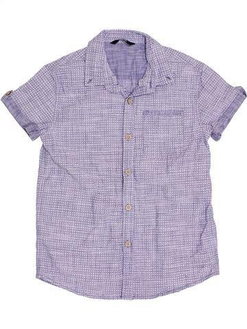 Chemise manches courtes garçon GEORGE violet 11 ans été #1382543_1