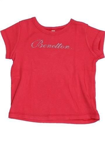 T-shirt manches courtes fille BENETTON rouge 12 mois été #1382571_1