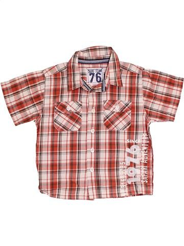 Chemise manches courtes garçon MATALAN rose 2 ans été #1382707_1