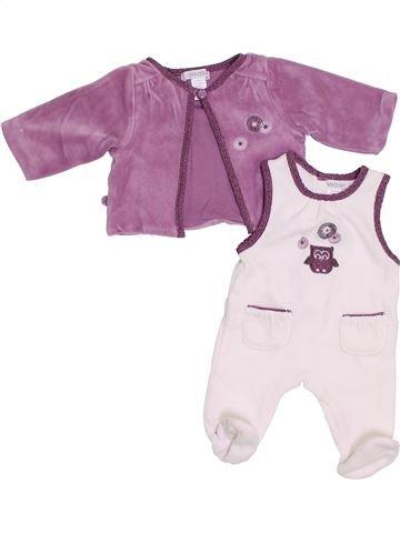 Pijama de 2 piezas niña OKAIDI blanco 0 meses invierno #1383655_1
