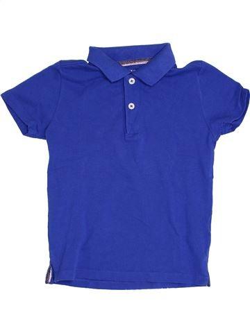 Polo manches courtes garçon MONOPRIX bleu 5 ans été #1386236_1