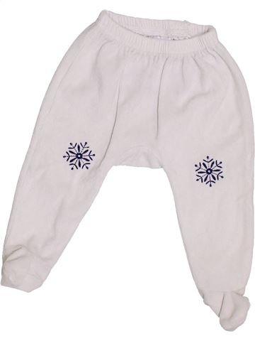 Pantalon unisexe INTERDIT DE ME GRONDER blanc 6 mois hiver #1386909_1