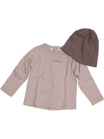 T-shirt manches longues garçon MARÈSE beige 12 mois hiver #1386946_1