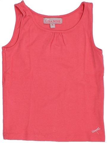 T-shirt sans manches fille LISA ROSE rose 4 ans été #1387291_1