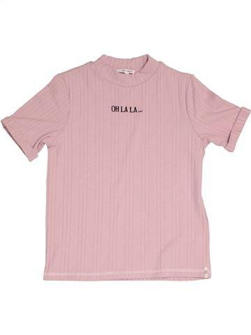 T-shirt manches courtes fille TEDDY SMITH rose 12 ans été #1387953_1