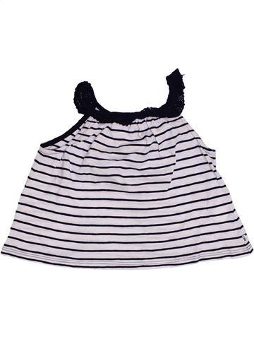 T-shirt sans manches fille OKAIDI bleu foncé 3 ans été #1388205_1