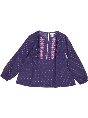 Blouse manches longues fille OKAIDI violet 6 ans hiver #1388241_1