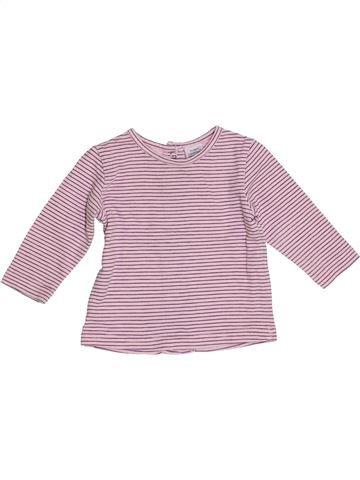 Camiseta de manga larga niña LES BEBES SONT COMME ÇA rosa 3 meses invierno #1388316_1