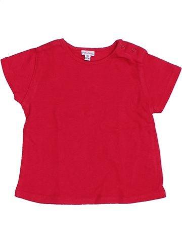 T-shirt manches courtes fille P'TIT BISOU rouge 6 mois été #1388639_1