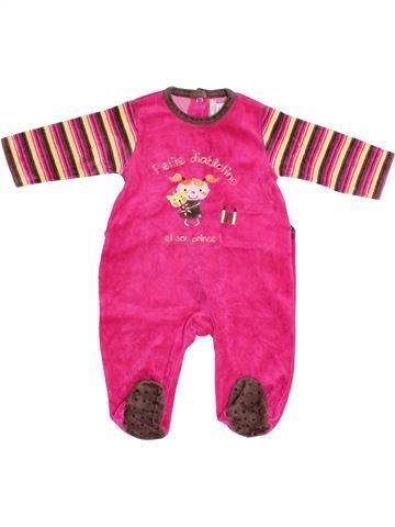 Pyjama 1 pièce fille ORCHESTRA rose 3 mois hiver #1388696_1