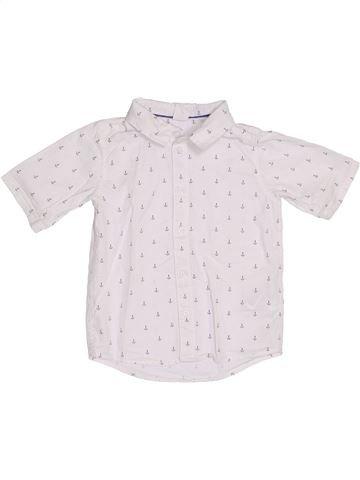 Chemise manches courtes garçon H&M blanc 2 ans été #1388834_1