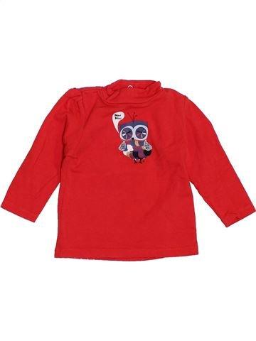 T-shirt manches longues fille CADET ROUSSELLE rouge 6 mois hiver #1389919_1