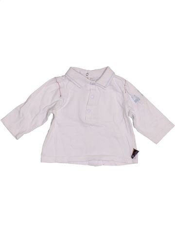 Polo de manga larga niño MARÈSE blanco 3 meses invierno #1390471_1