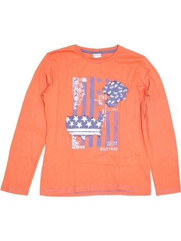 T-shirt manches longues garçon TAPE À L'OEIL orange 14 ans hiver #1390583_1