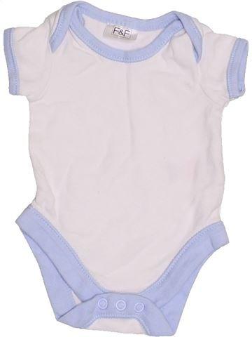 T-shirt manches courtes garçon F&F blanc prématuré été #1390920_1