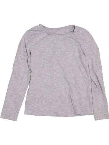 T-shirt manches longues fille GEORGE gris 9 ans hiver #1392070_1