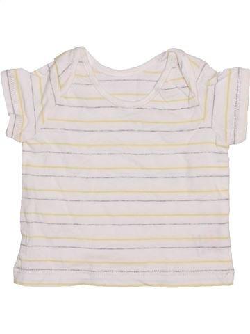 T-shirt manches courtes garçon SANS MARQUE blanc naissance été #1392141_1