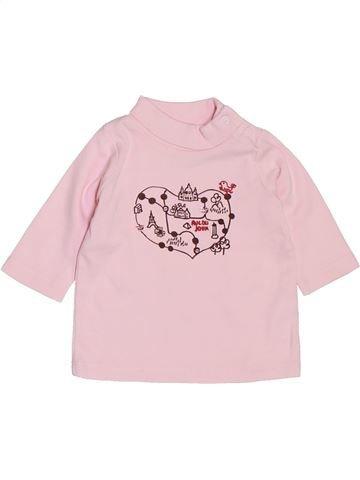 T-shirt col roulé fille NATALYS blanc 3 mois hiver #1392374_1