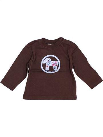 T-shirt manches longues fille 64 marron 6 mois hiver #1393196_1