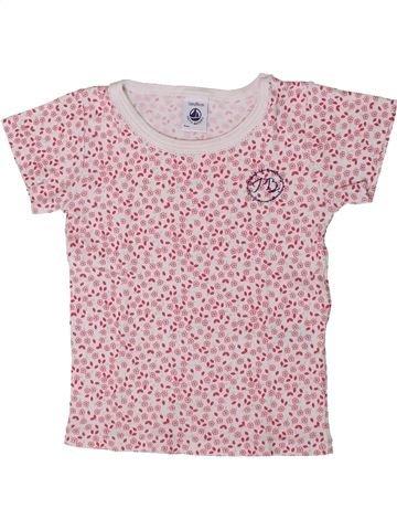T-shirt manches courtes fille PETIT BATEAU rose 2 ans été #1393370_1