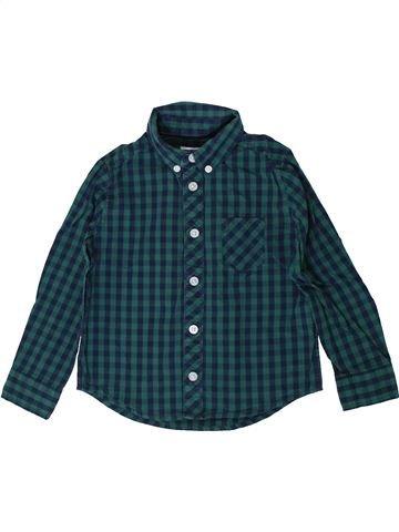 Chemise manches longues garçon CYRILLUS vert 3 ans hiver #1393452_1