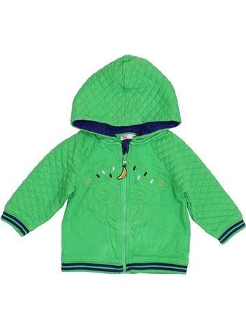 Sweat garçon DPAM vert 12 mois hiver #1393531_1