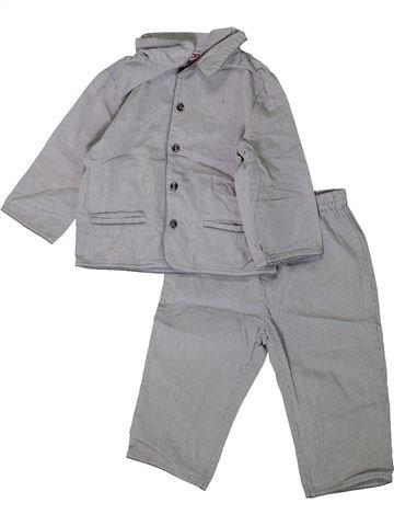 Pyjama 2 pièces garçon DPAM gris 12 mois été #1393916_1