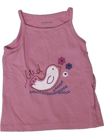 T-shirt sans manches fille VERTBAUDET rose 12 mois été #1394018_1