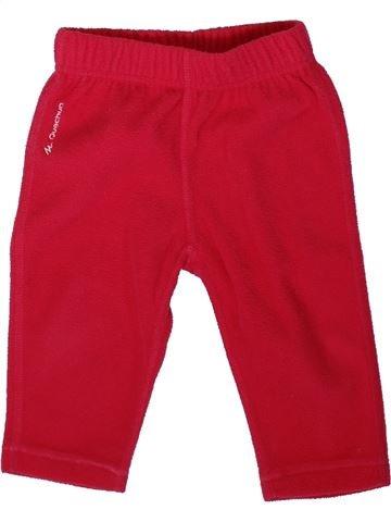 Pantalon fille QUECHUA rouge 12 mois hiver #1394093_1