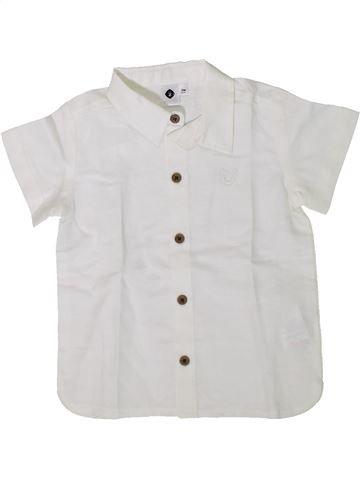 Chemise manches courtes garçon GRAIN DE BLÉ blanc 18 mois été #1394285_1