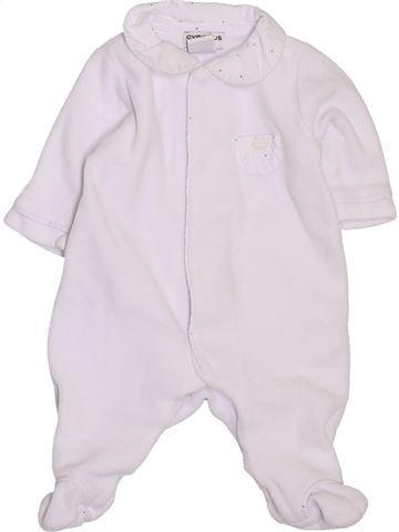 Pyjama 1 pièce fille CYRILLUS blanc 1 mois hiver #1394503_1