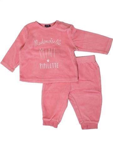 Pijama de 2 piezas niña KIABI rosa 6 meses invierno #1394656_1