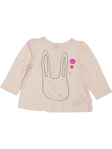 T-shirt manches longues fille GAP violet 6 mois hiver #1395055_1