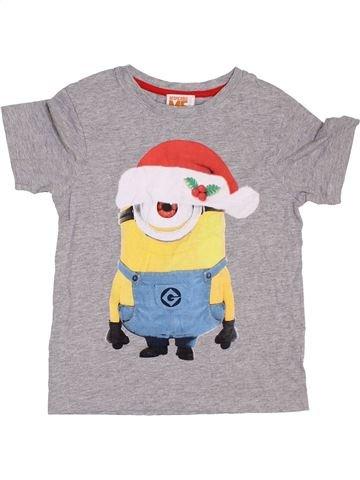 T-shirt manches courtes garçon TU gris 7 ans été #1395058_1