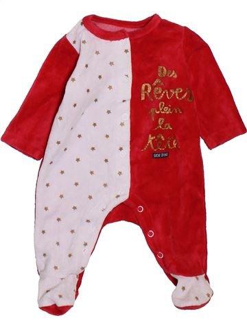 Pyjama 1 pièce garçon SUCRE D'ORGE rouge 1 mois hiver #1395113_1