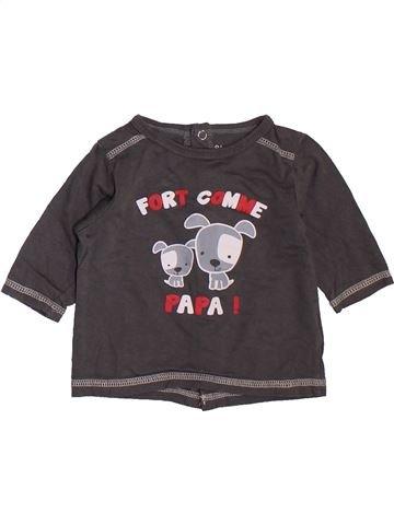 T-shirt manches longues garçon KIMBALOO gris 3 mois hiver #1395125_1