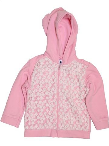 Sweat fille CREEKS rose 2 ans hiver #1395629_1