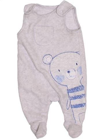 Pyjama 1 pièce garçon GEORGE blanc 1 mois hiver #1395868_1