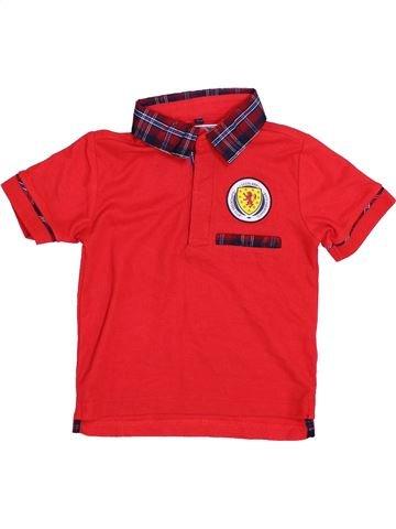 Polo manches courtes garçon 100%SCOTTISH rouge 3 ans été #1396366_1