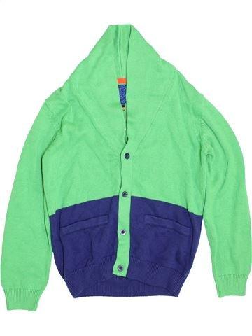 Gilet garçon BLUEZOO vert 10 ans hiver #1396454_1