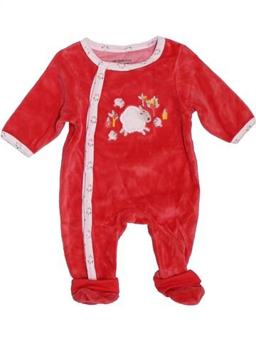 Pyjama 1 pièce fille VERTBAUDET rouge 1 mois hiver #1396824_1