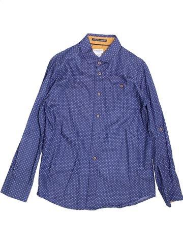 Camisa de manga larga niño CYRILLUS violeta 10 años invierno #1397413_1
