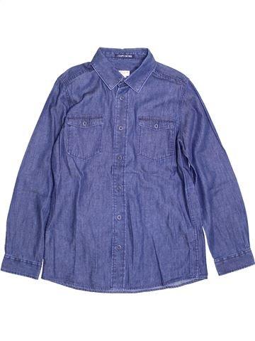 Chemise manches longues garçon CYRILLUS bleu 10 ans hiver #1397425_1