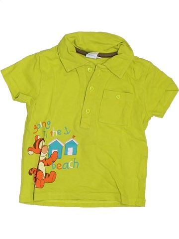 Polo manches courtes garçon DISNEY vert 12 mois été #1397442_1